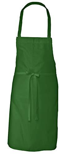 Elaine Karen Adult Men's Women's Unisex Chefs Bistro Adjustable Extra Long Ties, Professional Commercial Grade Bib Apron - Green - 2 PK