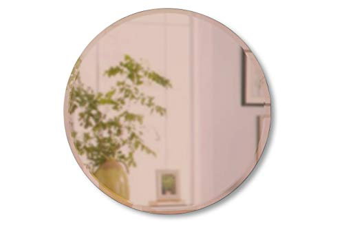 Umbra, Copper Hub Beveled-36-Inch Round Mirror for Entryways, Bathrooms, Living Rooms and -