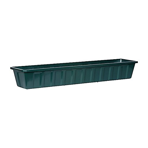 Novelty Poly-Pro Plastic Flower Box Planter, Hunter Green, 36-Inch