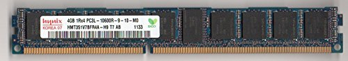 HYNIX HMT351V7BFR4A-H9 PC3-10600R DDR3 1333 4GB ECC REG 1RX4 VLP (FOR SERVER ONLY) (Reg Memory Low Profile Server)