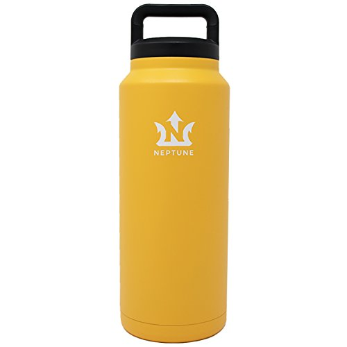 Neptune Bottle - 36-ounce Vacuum Insulated Stainless Steel Water Bottle, Wide Mouth, Sweat-Free Powder Coating from Neptune