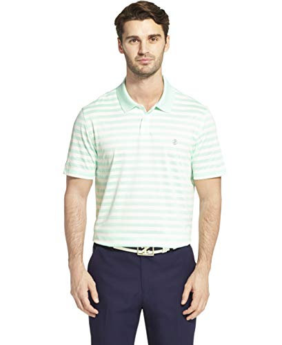 IZOD Men's  Golf Striped Polo Shirt , Yucca, X-Large ()
