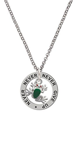 Mini Green Tree Frog - Never Give Up Affirmation Ring ()