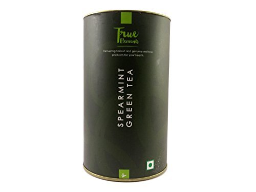True Elements Spearmint Green Tea 100gm - Premium, hand-picked green tea- healthy and delicious (Makes 40-50 cups), Refreshing and delightful, rich in antioxidants- Suitable for hormonal balance and weight loss by True Elements