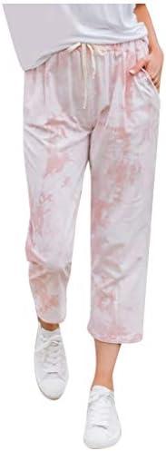 Meikosks Pocket Lounge Pants Womens Gradient Printed Trousers Elastic Waist Baggy Sweatpants