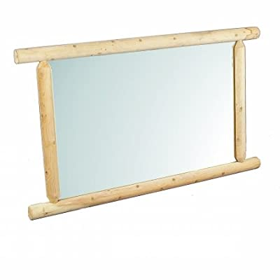 "Rustic Natural Cedar Furniture 130040D Bedroom Dresser Mirror, 32"" x 48"", Natural"