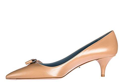 Prada Zapatos de Salón Escotes Mujer EN Piel Nuevo Rosa