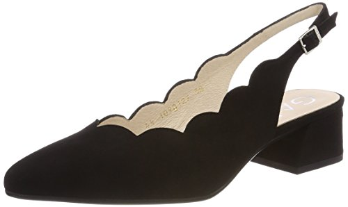 Negro con Punta Ante Zapatos 40987 Gadea Tacón de Negro Cerrada para Mujer Negro wvXzIzqan