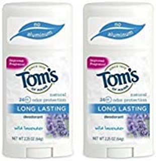 product image for Tom's Of Maine Long Lasting Deodorant Stick, Lavender, 2.25 Ounce (Pack of 2)
