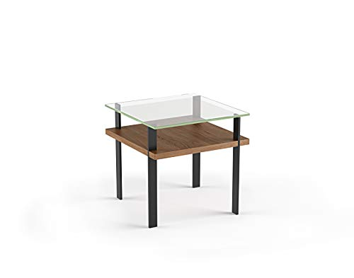 BDI 1156 WL Terrace Glass Top End Table, Natural - Terrace End