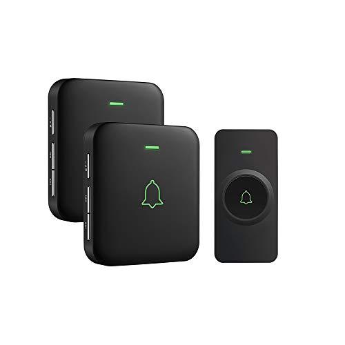 Wireless Doorbell, AVANTEK Mini IP55 Waterpoof Doorbell Chime Operating at 1000 Feet...