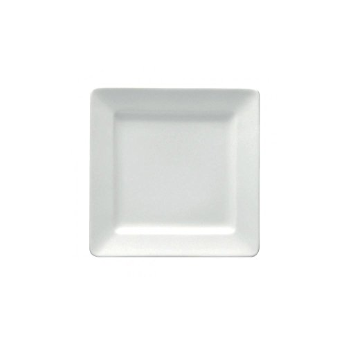 Undecorated Porcelain Plate Square - Buffalo F8010000149S Bright White 10-1/4
