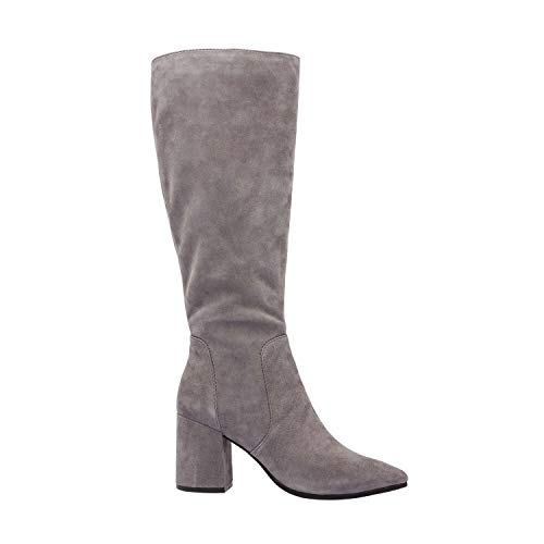 Padded Prima Fall Comfortable Support Fashion Boot Slate Heel Toe Knee Insole Pointy New Block Arch Suede High v8xr61vwq