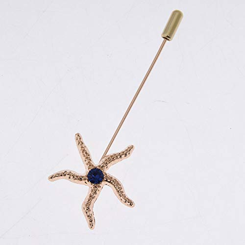 arty Suit Corsage Lapel Stick Pin Scarf Brooch Breastpin (StyleID - #22) ()