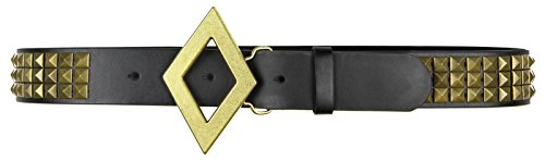 DC Comics Suicide Squad Harley Quinn Black & Gold Studded Cosplay Belt -