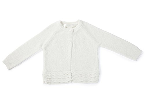 BAREFOOT DREAMS BAMBOO CHIC LITE GIRL'S INFANT HEIRLOOM CARDIGAN (S (6-12 months), PEARL)