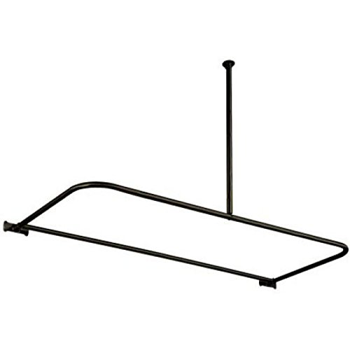30%OFF Elements of Design ED3135 D-Type Shower Rod, Oil Rubbed Bronze