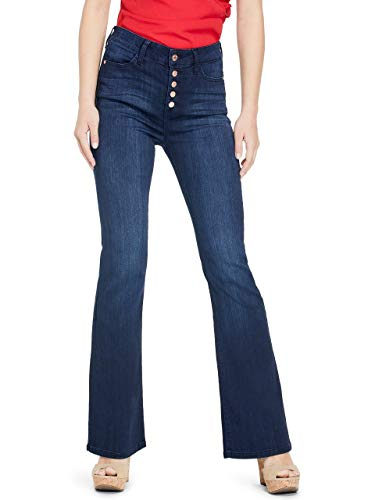 GUESS Factory Women's Kirca Button-Front Flare Jeans ()