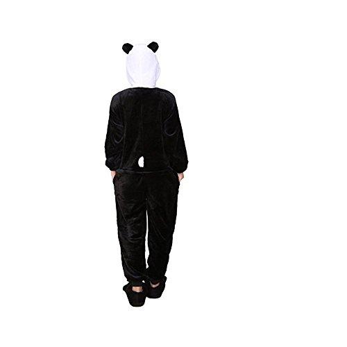 SUIE Unisex Adult Flannel Animal Pajamas-Onesie Cosplay Romper Pajamas Sleepwear Costume Panda L -