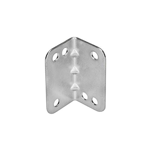 - Rok Hardware Heavy Duty Metal Bracket Right Angle Brace, 20 Gauge, Zinc Finish, 50 Pack