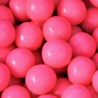 Candy Shop Pink 1-Inch Gumballs - Strawberry Flavor (1 POUND)]()