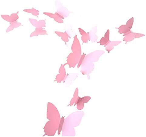 LOLOAJOY Decoration Removable Butterfly Stickers