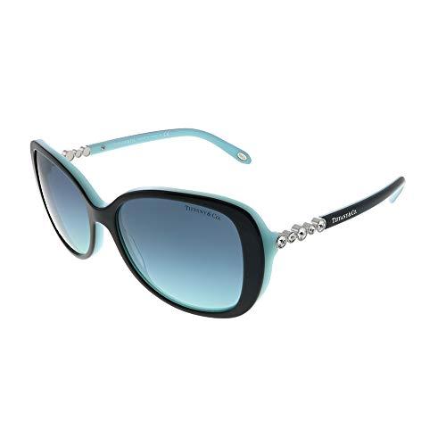 Tiffany TF4121B 80559S Black/Blue TF4121B Butterfly Sunglasses Lens - And Co Tiffany
