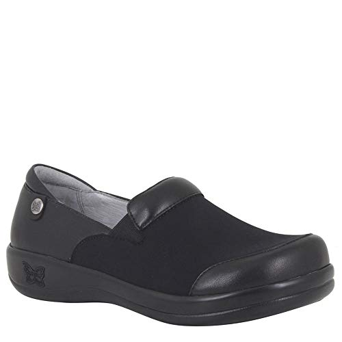 Alegria Keli Womens Professional Shoe Black Nappa Stretch 11 W US