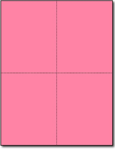 4-up Postcards, Pink - 250 Sheets / 1000 Postcards by Desktop Publishing Supplies, Inc.