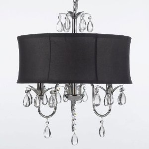 Modern contemporary black drum shade crystal ceiling chandelier modern contemporary black drum shade crystal ceiling chandelier pendant lightning fixture swag plug in aloadofball Gallery