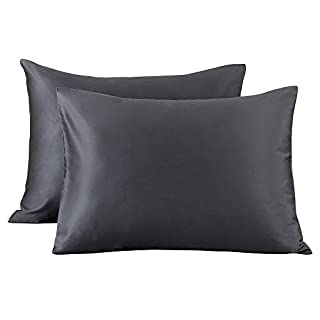 Oubonun Premium Queen Pillowcases Set of 2 (100 Percent Cotton, 800 Thread Count) - XL High Thread Count Pillow Cases- Luxury 20'' x 30'' Grey Bed Pillow Covers with Envelope Closure