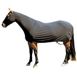 Sleazy Sleepwear for Horses Medium Solid Full Body Black