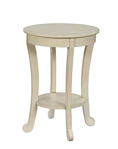 Acme Furniture 84526 Moacir Antique White Side Table