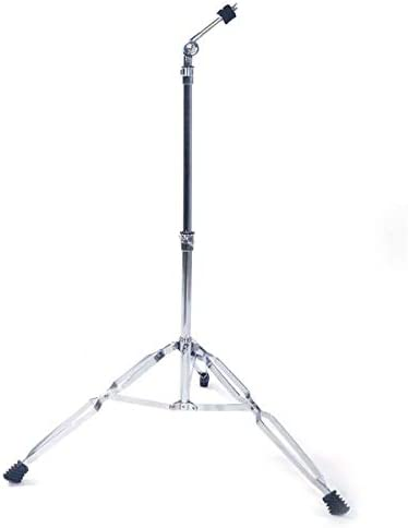 Silver Pup Joint Drum Stand Holder Tripod Practice Bracket Percussion Accessory for Stage Performance and Daily Practice Straight Cymbal Stand Drum Hardware Percussion Mount Holder Gear Set