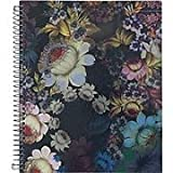 Cynthia Rowley Spiral Notebook, Cosmic Black Floral 8.5'x 11' 100 Sheets 28122-US