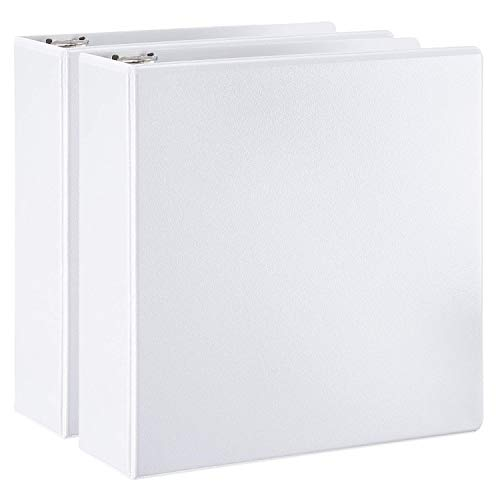 AmazonBasics D-Ring Binder - 3 Inch, 2-Pack