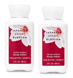 (Bath and Body Works 2 Pack 24 Hour Moisture Japanese Cherry Blossom Travel Size Body Lotion 3 Oz.)