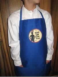 男児も料理できます! エプロン - ロイヤルブルー 若いシェフ、男の子、子供へのプレゼントに最適   B07N1XZVLK