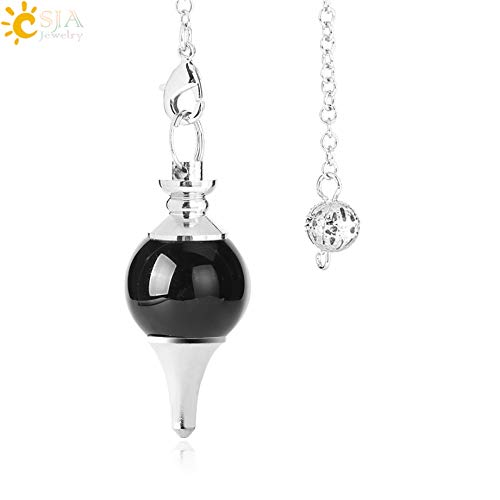 - Balance Natural Stone Crystal Red Agates Dowsing Pendulum Circular Cone Charm Pendant | for Men Women Divination