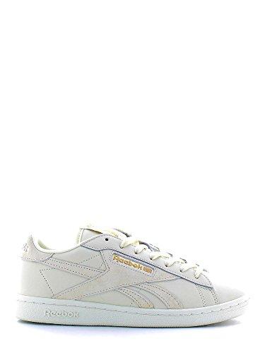 Uk Schwarz White Sneaker Classic Chalk Damen NPC AD Reebok SqPxwCnRUC