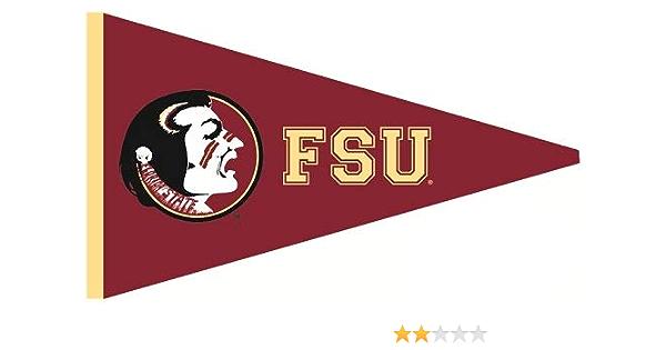 Wigglewalls 9 Inch Fsu Osceola Logo Pennant Decal Flag Florida State University Seminoles Noles Fs Fl Removable Wall Sticker Art Ncaa Home Room Decor 9 By 5 Inches Amazon Com
