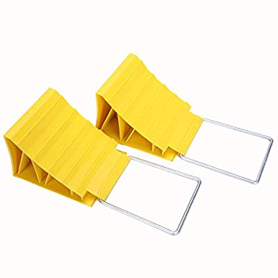 Homeon Wheels Safety and Lock Wheel Chocks, Anti-theft Tire Chocks 2 Packs Car Anti-Slip Block Tyre Slip Stopper Wheel Block Tire Support Pad, Helps Keep Your Cars in Place. for use with Tires up to 2: Automotive