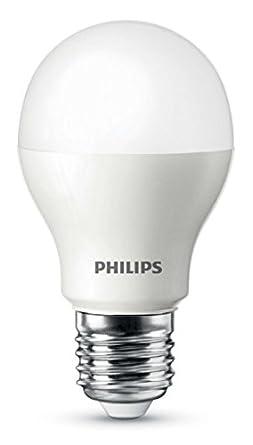 Light Bulb Screw: Philips LED Light Bulb (E27 Edison Screw 9.0W A60) - Warm White [Energy  Class A],Lighting