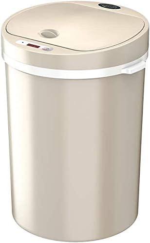 プラスチック製の内部バケツ付き自動赤外線センサー付き電気ゴミ箱ホームキッチンバスルーム用タッチレスクロームオーバル