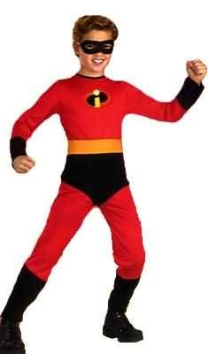 Disney Halloween Costumes For Boys (The Incredibles- Mr. Incredible Standard Child Costume: Size 3T-4T)