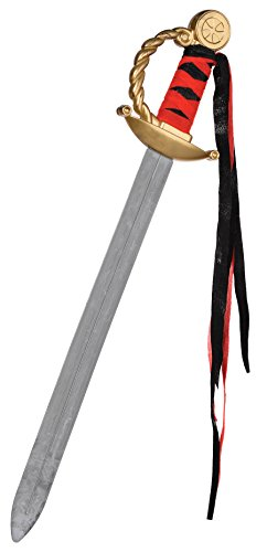 Gold Filled Costume (Fun-Filled Costume Party Pirate Antique Sword, Black/Gold, Plastic, 19 1/2