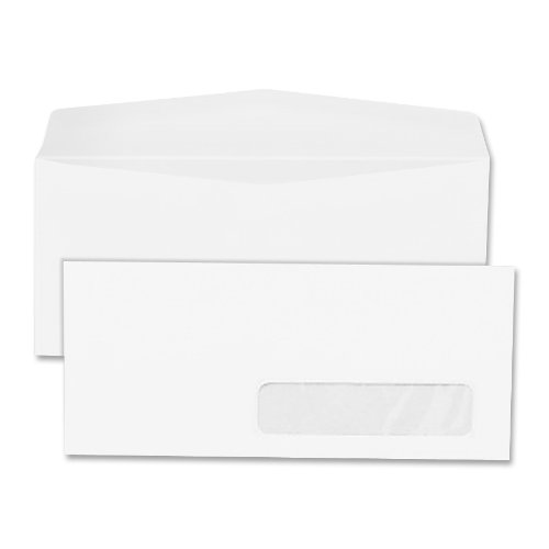 Quality Park 21332 Quality Park Right-Window Envelopes, #10, 24lb, White, 500/Box Quality Park Right Window