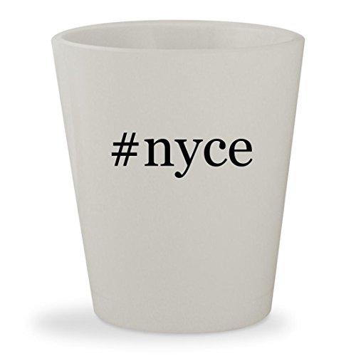 Price comparison product image #nyce - White Hashtag Ceramic 1.5oz Shot Glass