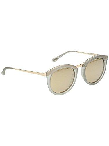 Le Specs Unisex No Smirking Mist Matte/Gold Revo Mirror Polarized - Blonde Sunglasses Womens