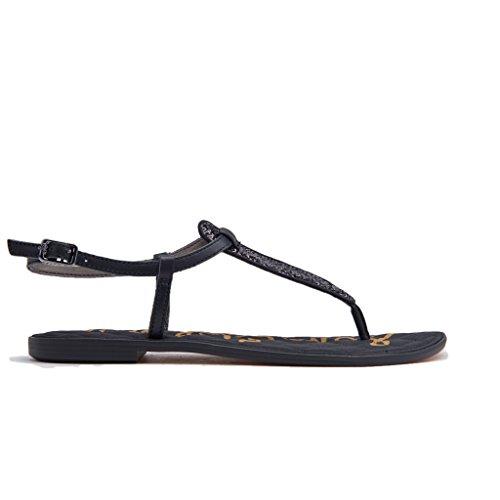 Sam Women's Gigi Small Sandals Fashion Sequins Edelman Black 8SBRqwT8r